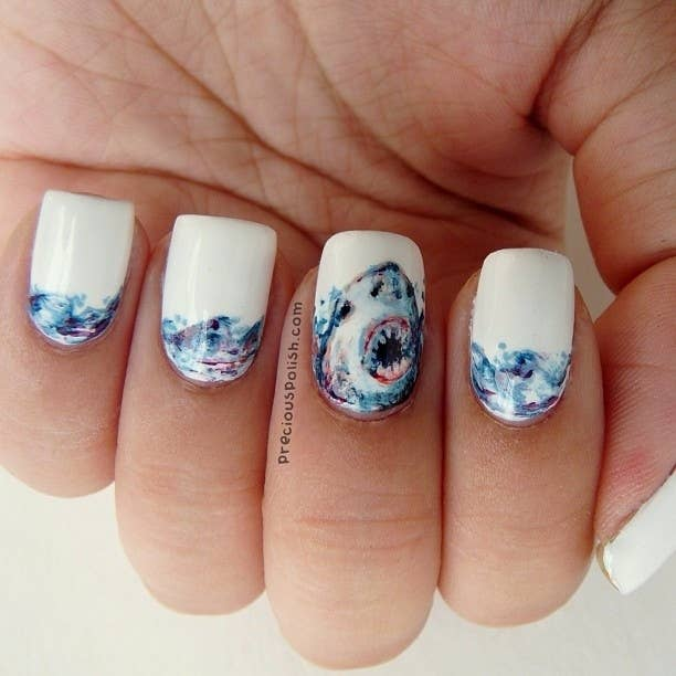 10 Nail Art Designs That Will Make Your Shark Week