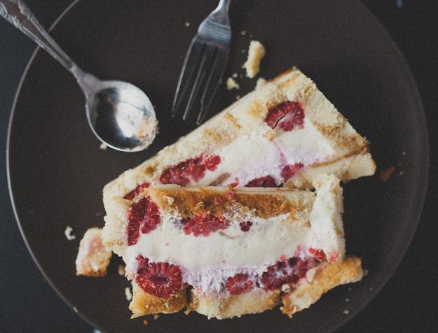 Raspberry Vanilla Ice Cream Cake