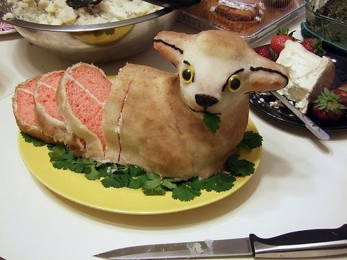 This animal cake that became more disturbing with each slice.
