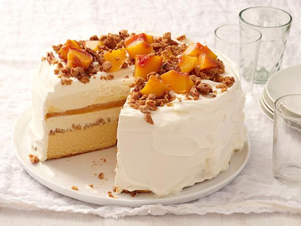 Peach Cobbler Ice Cream Cake