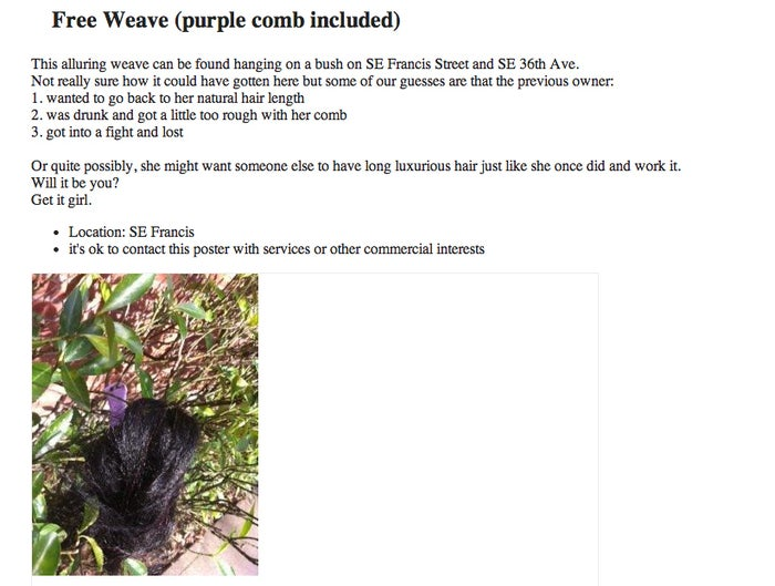 Because I've always wanted a second hand weave.