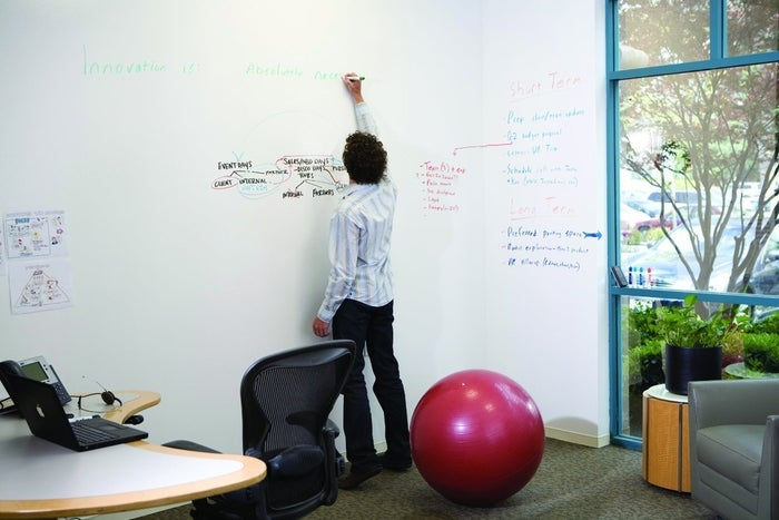 Turn any wall into a whiteboard with IdeaPaint. Let the brainstorms begin.