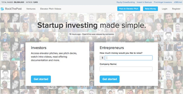 RockThePost enables entrepreneurs to easily pitch their business idea and collect capital from interested investors.