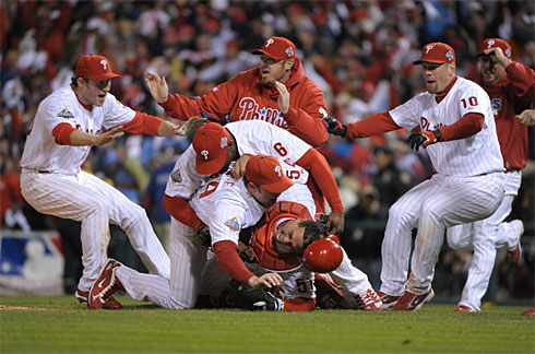 Phillies Victory Pile