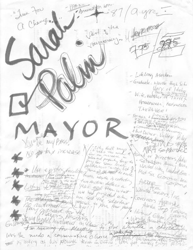 Sarah Palin Doodles