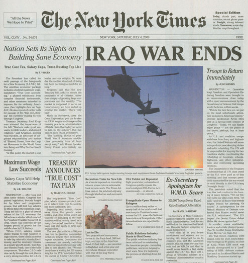 Iraq War Ends!