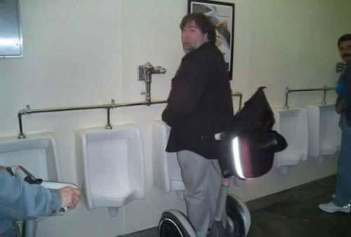 Woz Urinates Via Segway