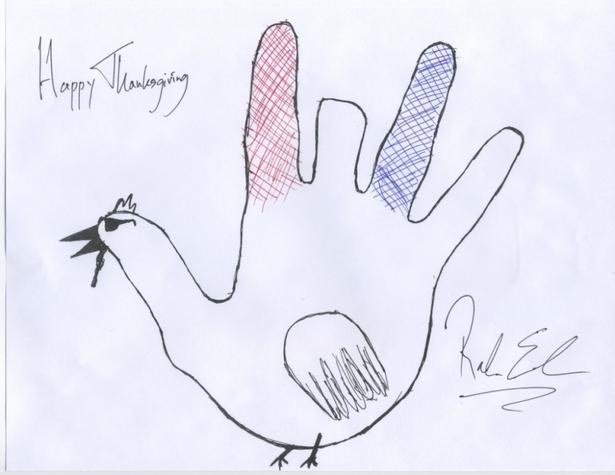 Rahm Emanuel's Thanksgiving Card
