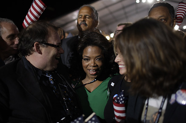 Oprah At Obama's Victory Speech