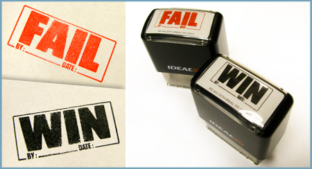 FAIL/WIN Stamps