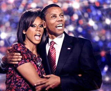 RuPaul as Michelle and Barack Obama