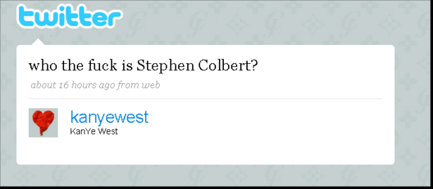"""Who the F is Stephen Colbert?"""