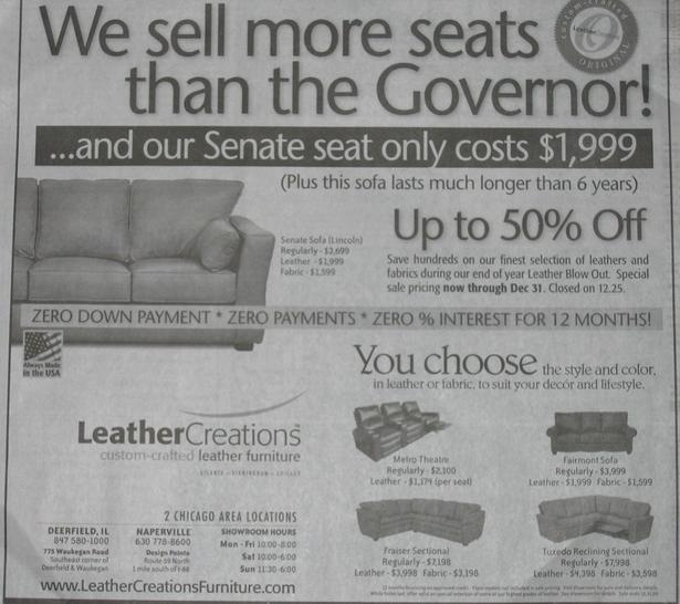 Illinois Furniture Store Ad
