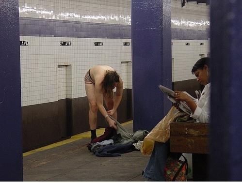Naked Subway Dude