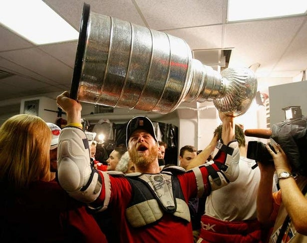 The Cup is headed back to Hockeytown after Detroit's 3 to 2 win over Pittsburgh. Look at that reverence!