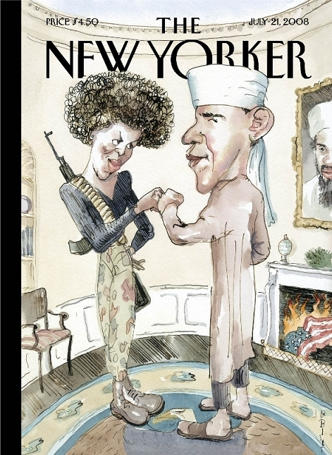The New Yorker's Obama Cover