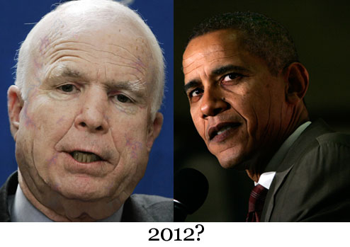 McCain and Obama in 2012