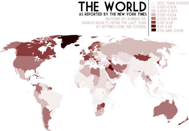 World As Reported by the NY Times
