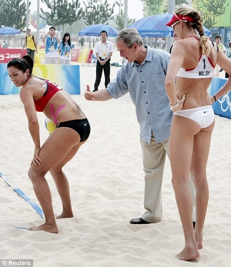 Bush with Volleyball Players