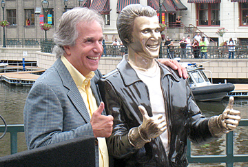 The Bronze Fonz Unveiled