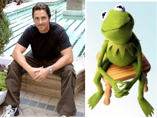 Christian Bale And Kermit