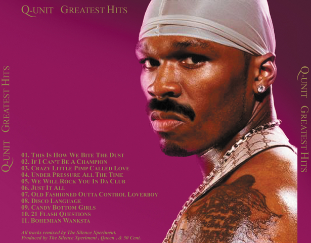 Mustachioed 50 Cent