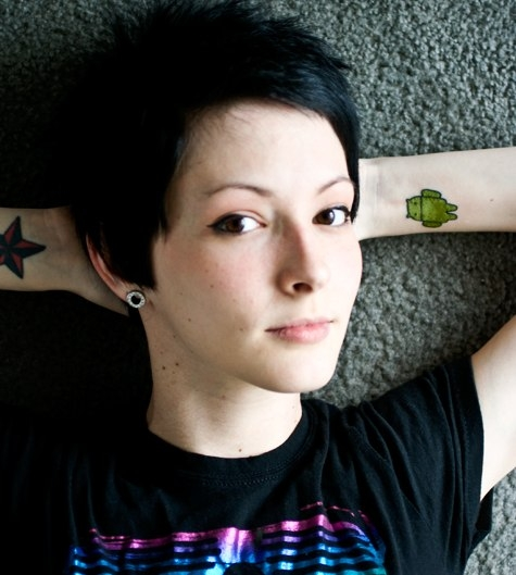 Android Tattoo Girl