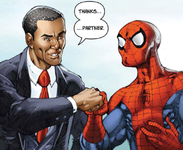 Obama in Spider-Man Comic