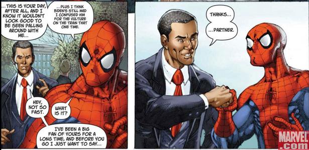 Obama Meets Spider-Man