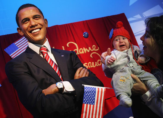 Wax Obama Terrorizes Baby