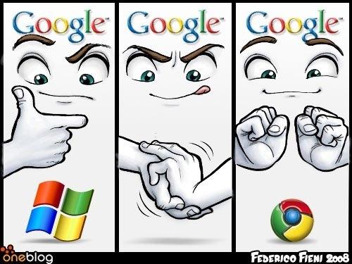 Origin of the Google Chrome Logo