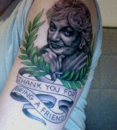 Eliot's Bea Arthur Tattoo