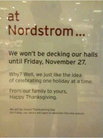Nordstrom Vs. Christmas