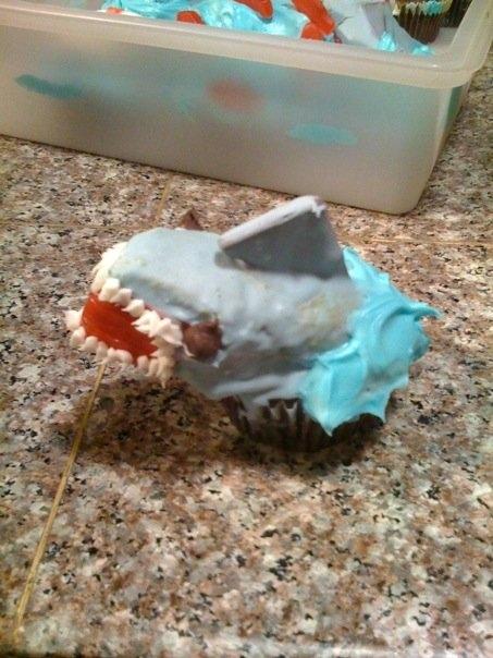 Twinkie Shark Cupcake