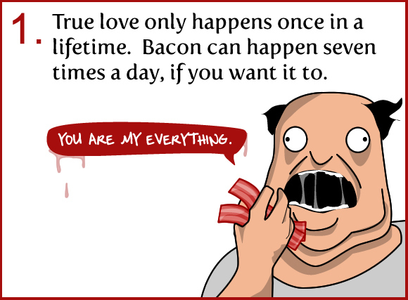 6 Reasons Why Bacon is Better Than True Love