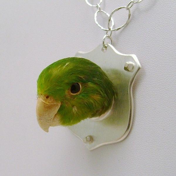 Bird Head Necklace