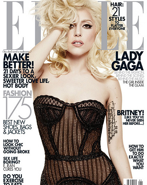Gaga In Elle Magazine