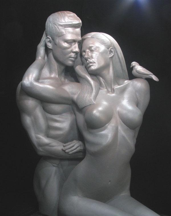 The Brangelina Sexual Healing Statue