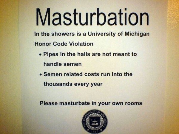 University of Michigan's Masturbation Policy