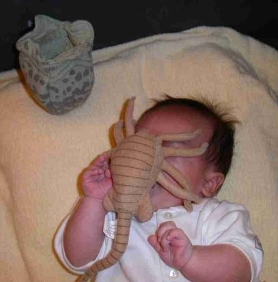 Stuffed Alien for Your Baby's Face