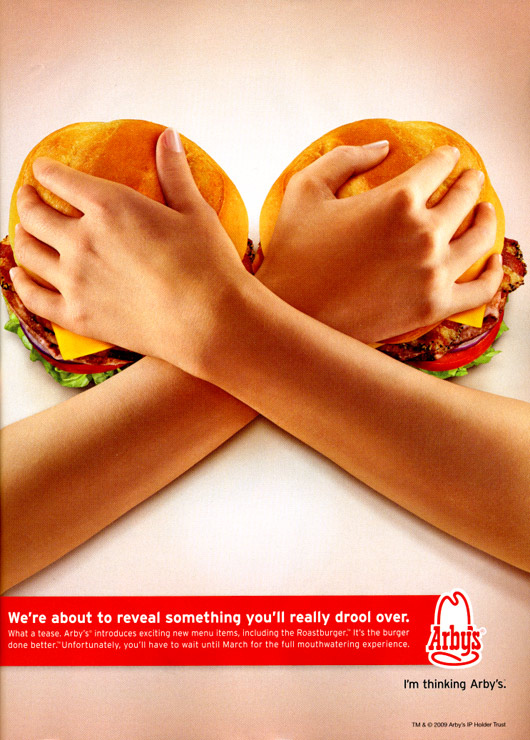 Arby's Subtle Burger Ad