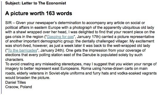 Letter to the Economist