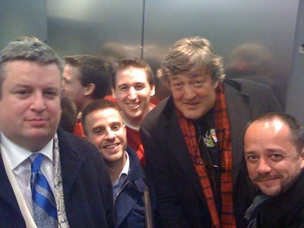 Stephen Fry Stuck in an Elevator