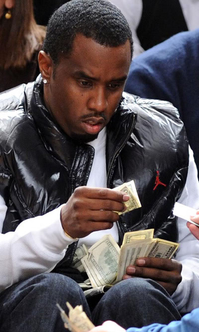 Diddy Counts His Dollars