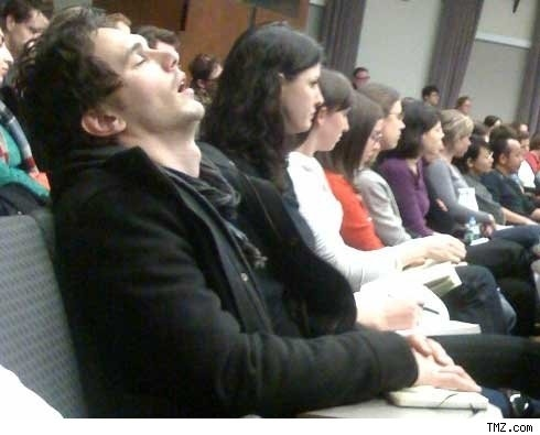 James Franco Asleep In Class