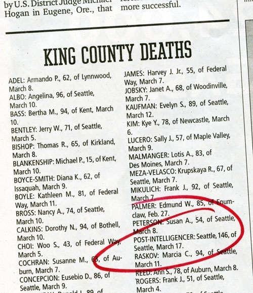 King County Deaths