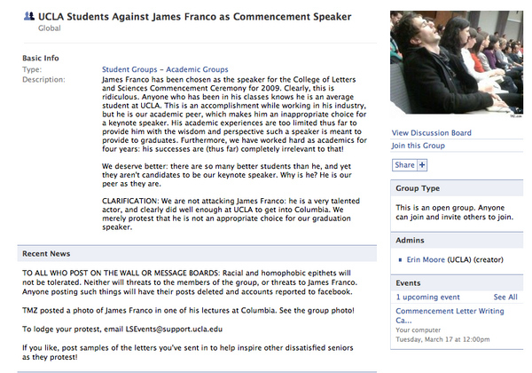 UCLA Students Against James Franco As Commencement Speaker