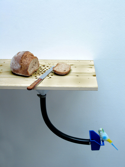 Breadcutter Birdfeeder