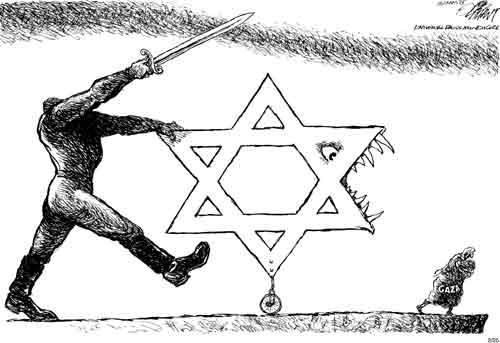 Oliphant's Israel-Gaza Cartoon