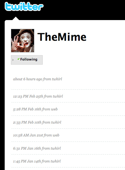 The Mime Twitter